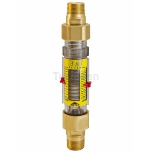 """Hedland EZ-VIEW átfolyásmérő - indikátor (rotaméter) vízre 1/2"""""""