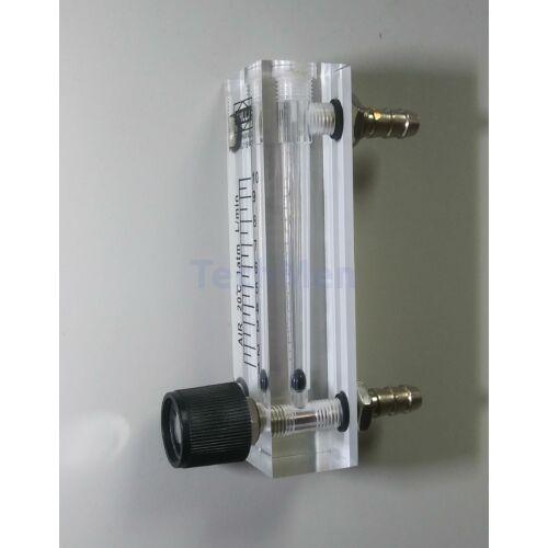 RZQ-6 átfolyásmérő, kémlelőcső (rotaméter) levegőre - szeleppel