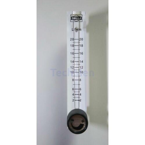 RZQ-7 átfolyásmérő, kémlelőcső (rotaméter) levegőre - szeleppel