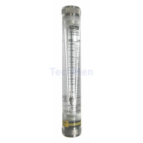 RZM-15G-F átfolyásmérő, kémlelőcső (rotaméter) folyadékra