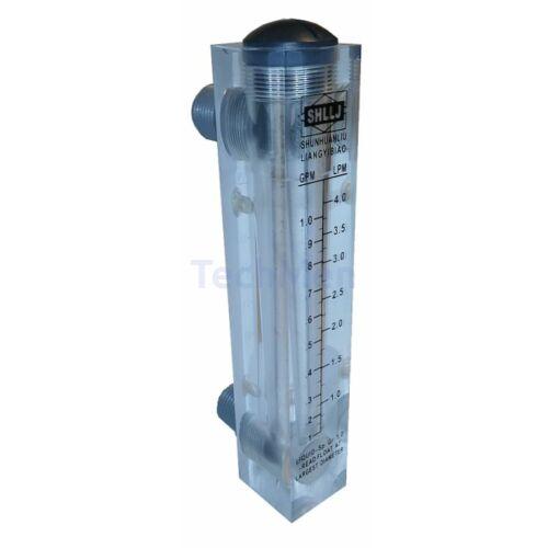 RZM-15-F panelra szerelhető átfolyásmérő, kémlelőcső (rotaméter)