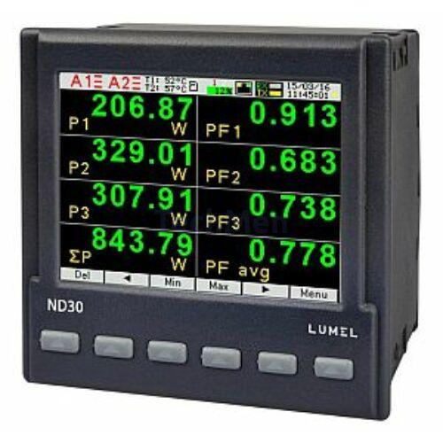 ND30 PNET, 3-fázisú hálózati analizátor