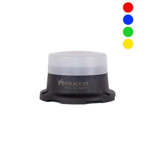 SNT-M74-RGB négyszínű figyelmeztető lámpa - villogó - sziréna