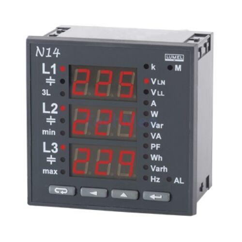 N14, 3-fázisú hálózati mérő / kijelző
