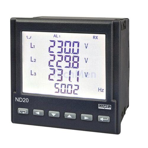 ND20, 3-fázisú hálózati analizátor
