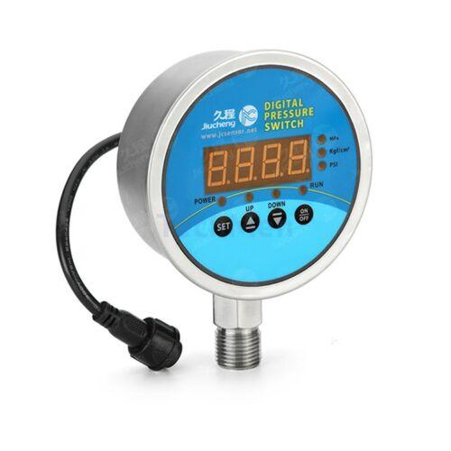 JC418-80 Digitális manométer, nyomáskapcsoló 80mm - relatív nyomásmérés